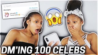 DMIng 100 celebrities & instagram stars! PT. 1( THEY RESPONDED!!)
