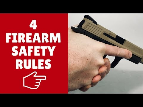 How To Handle A Gun Safely With Four EASY Rules