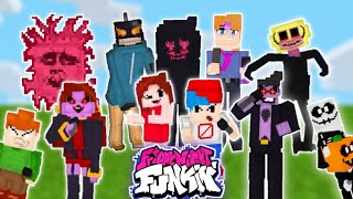 Friday Night Funkin Mod In Minecraft (latest update) New Characters!