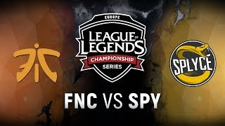 FNC vs. SPY - Week 8 Day 2 | EU LCS Summer Split | Fnatic vs. Splyce (2018)