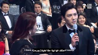 Ji Chang Wook And Park Min Young at 2014 KBS Drama Awards   ArabicSub