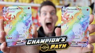 *$1000 CHARIZARD AGAIN* Best Champions Path Booster Box Opening
