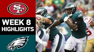 49ers vs. Eagles | NFL Week 8 Game Highlights