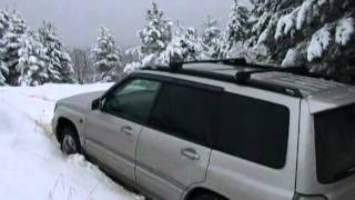 subaru forester in snow, subaru power