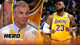 Colin Cowherd: LeBron creates 'stress' for the Lakers, defends MJ's recent remarks | NBA | THE HERD