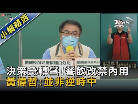 決策急轉彎!餐飲改禁內用 黃偉哲:並非逆時中 TVBS新聞