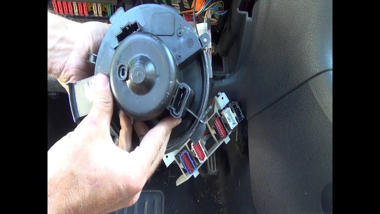 Cambio del motor soplador/ventilador de calefacción ...
