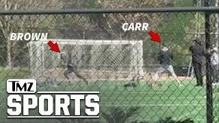 Antonio Brown Crushes First Raiders Workout With Derek Carr | TMZ Sports
