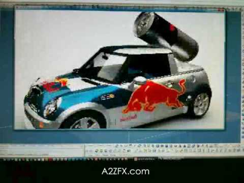 Red Bull Mini by A2ZFX - Real time 3D rendering  & CAD