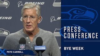 Seahawks Head Coach Pete Carroll Bye Week Tuesday Press Conference