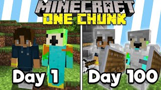 We Spent 100 Days in ONE MINECRAFT CHUNK... Here's What Happened