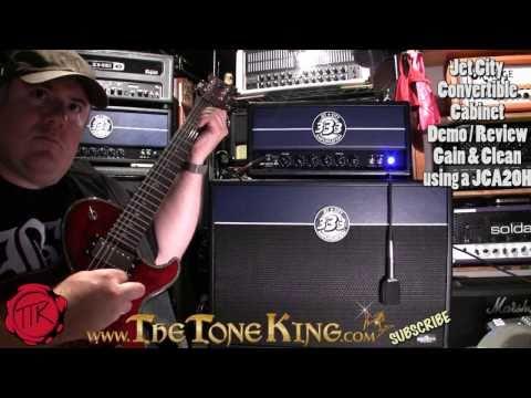 Jet City  JCA24S 2x12 Convertible Guitar Cabinet using DBZ Bolero & JCA20H head Demo Review