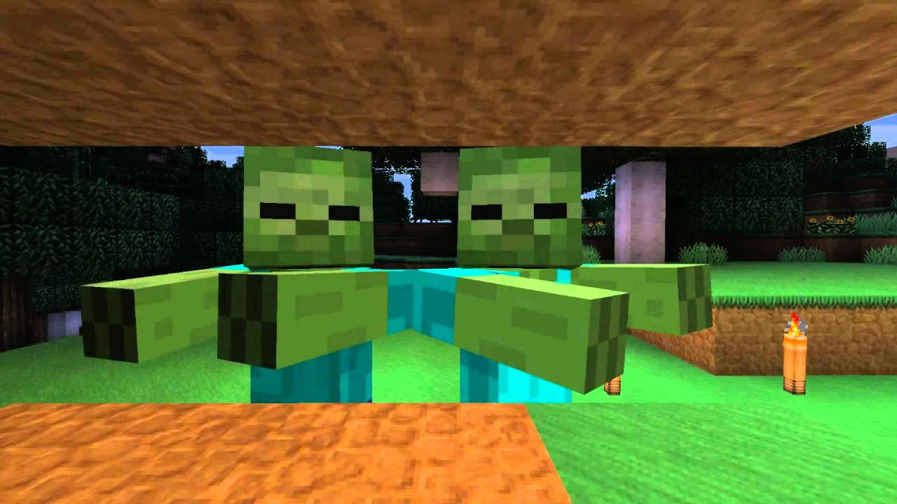 Епичная реп битва в майнкрафте скелет против зомби.