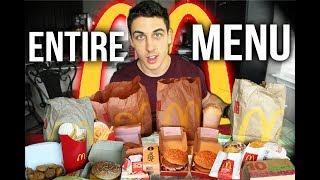 10,000 Calorie Cheat Day  McDonalds entire menu challenge