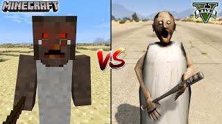 MINECRAFT GRANNY VS GTA 5 GRANNY - WHO IS BEST?