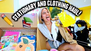 BACK TO SCHOOL SUPPLIES + CLOTHING HAUL! College 2019