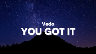 Vedo - You Got It (Clean - Lyrics)