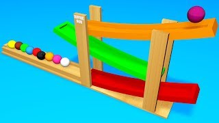Toddlers learn colors. Learning videos for kids with 3D Zig Zag Ball сolor.