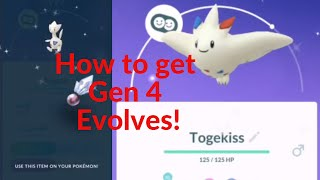 Pokemon Go How to get Gen 4 Evolutions