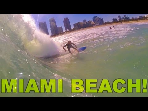 Surfing in South Beach