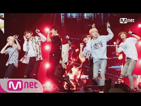 [KCON LA] BTS-INTRO(Young Forever)+FIRE 160809 EP.487ㅣ KCON 2016 LA×M COUNTDOWN