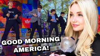 BTS GMA PERFORMANCE 2019 (BOY WITH LUV + FIRE) SUMMER CONCERT | REACTION
