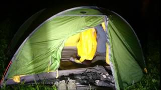 complete Camp setup at Night - Exped Venus II Tent