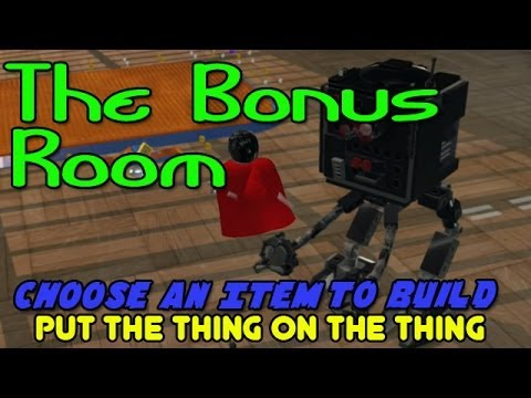 The Lego Movie Video Game: Choose An Item To Build (Put The Thing On The Thing) Bonus Room - Smashpipe Games