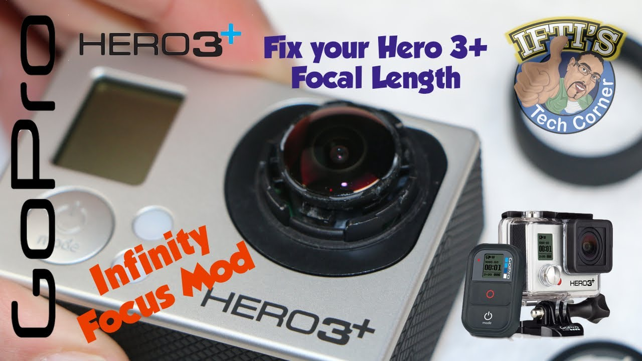 GoPro Hero 3+ Infinity Focus Mod - Fix Your Hero3+ Focus! by iftibashir on YouTube