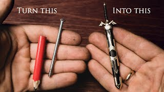 I Turn A Nail Into Link's Master Sword (Legend of Zelda) - Miniature Version
