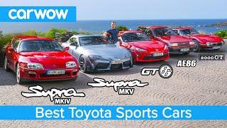 New Supra v MK4 v 2000 GT v GT86 v AE86 v Celica - the best Toyota sports cars!
