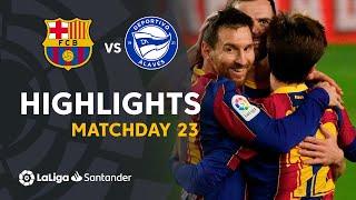 Highlights FC Barcelona vs Deportivo Alavés (5-1)