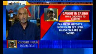 Pak Chief Selector Moin Khan's asked to return after Casin..