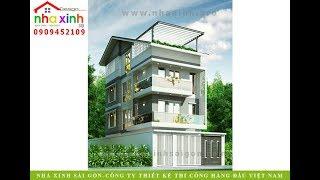 Mẫu nhà phố hiện đại 4 tầng | anh Sơn | Nhà Xinh ®