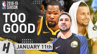 Stephen Curry, Kevin Durant & Thompson BEST Highlights vs Bulls 2019.01.11 - 80 Pts in 3 Qtrs!