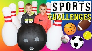 Kid Size Olympics || Twin Sports Challenges!!