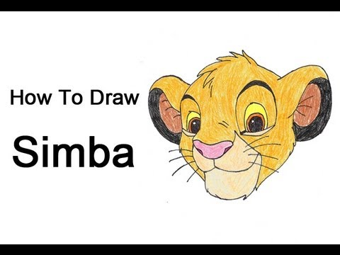 How To Draw Simba Lion King Youtube