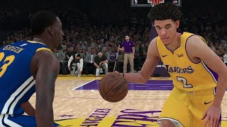NBA Today 11/29/2017 - Golden State Warriors vs Los Angeles Lakers - Full NBA Game Sim (NBA 2K18)