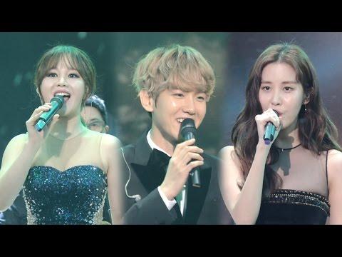 EXO Baekhyun & SNSD Seohyun, 백현·서현·한아름 'Hey Jude' @2016 SAF 연기대상 1부 20161231