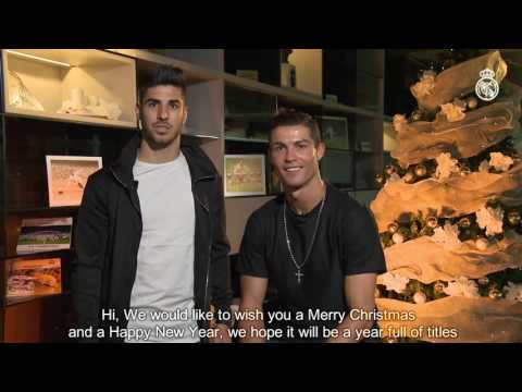 Merry Christmas from Cristiano Ronaldo and Asensio!