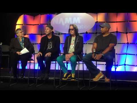 Drummer Chad Smith of Red Hot Chilli Peppers supporting music education at NAMM Show