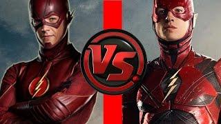 Flash VS Flash | Ezra Miller Flash vs Grant Gustin Flash | Who is FASTER?!