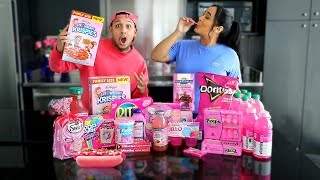 EATING ONLY PINK FOODS FOR 24 HOURS!
