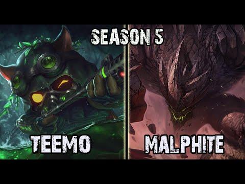 League of Legends Gameplay Best Teemo Korea Season 5 Kr SoloQ. Ranked  Challenger Pro Replay Teemo vs Malphite 5.7 Top Lane