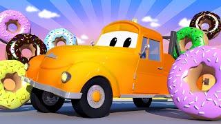 Bärgningsbilen Tom - Munkdagen special: Farliga munkar - Bilköping 🚗 Tecknade serier för barn
