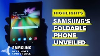 Samsung Developer Conference 2018 highlights: Foldable phone display first look