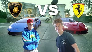 I RACED JAKE PAUL **LAMBORGHINI VS. FERRARI**