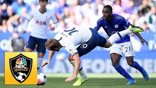 Harry Kane gives Spurs lead with spectacular finish v. Leicester City | Premier League | NBC Sports