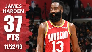 Harden crosses up Patrick Beverley, drops 37 points in Rockets vs. Clippers | 2019-20 NBA Highlights