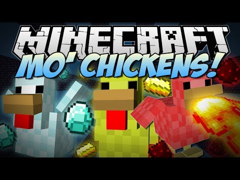 Minecraft   MO' CHICKENS! (Fire Breathing, Poisonous, Laying Diamonds & More!)   Mod Showcase - Smashpipe Games